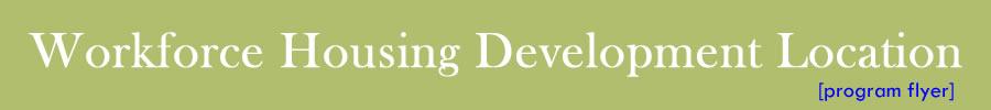 Workforce Housing Development